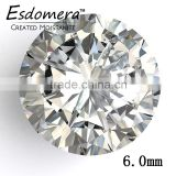 6.0mm Wholesale Esdomera White Color Moissanite Loose Stones Round Brilliant Cut Colorless Stone