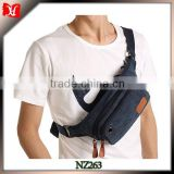 Canvas Outdoor Camping Hiking Trekking Chest Bag with earphone hole hook Military Tactical waist bag