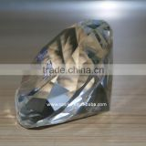 wholesale crystal diamond paper weight with printed logo,acrylic diamond shape paperweight,crystal decoration