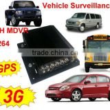 HIGH QUALITY 4 CH VIDEO AND AUDIO RECORDING DVR RECORDER FOR BUSES WITH BUILT-IN GPS,3G MODULE