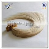 Wholesale top quality pre bonded u tip hair extensions white silky straight 100% russian virgin human hair                                                                                                         Supplier's Choice