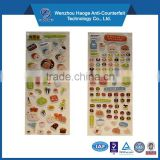 Decorative 3d foam puffy sticker & PVC puffy sticker, sponge sticker & epoxy sticker