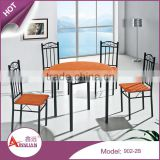 Africa style home furniture cheap 4 person dining table set wooden round dining hall table and chair