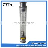 Zyia 220LPM stainless steel acrylic flow meter, clamp on water flow meter,acrylic water rotameter/gas flow meter