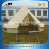 Outdoor 4m cotton canvas bell style luxury safari tent for sale