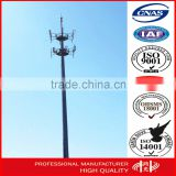 Anti-rust 30m Hot dip galvanized steel Monopole Antenna Monopole , telecom pole for radio signal                                                                                                         Supplier's Choice