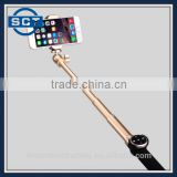 Aluminium Extendable Universal Monopod Wireless Selfie Stick with Built-in Remote Shutter