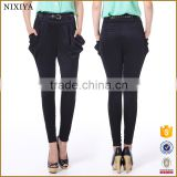 black pants yoga pants fabric harem pants
