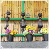 animal wrought iron ant garden decoration with flower pot