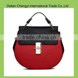 Colorful Cosmetic Hand PU Lady leather bag, women's leather bag