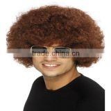 Affordable Afro Clown Hair Football Fan Adult Child Costume Curly Wig