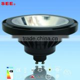 New patented es111 gu10 led spotlight 12w samsung casting aluminum ce rohs