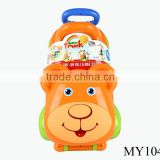 Cartoon foldable baby walker push toy safe foldable baby bear walker plastic baby walker