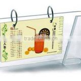 Slide personlized funny customized Acrylic desktop calendar stand with Experienced Factory Made