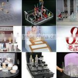 2015 New Arrival ! Fashion Special professional Acrylic cosmetic display showcase with Experienced Factory Made