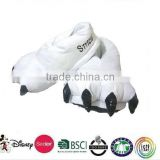 White Ladies Slippers Claws Quilted Animal Paw Slippers Shoe Plush Indoor/Plush slippers in the shape of claw