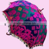 Decorative Umbrellas in tribal embroideries from India
