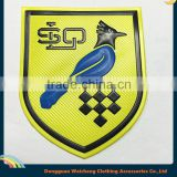 Customized 3d logo soft pvc silicone bird patch