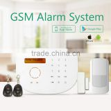 Two-way communication autodial GSM alarm system, wholesale home alarm & smart home automation alarm system via Android/ IOS APP