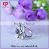 wholesale silver opal ring blue stone ring top quality 925 sterling silver blue stone ring
