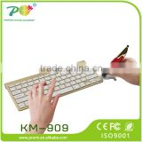 2015 Best selling 2.4G wireless gold Keyboard and pen Mouse Combo can use it on any surface except for glass