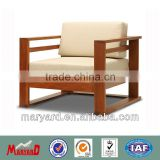 High quality finish teak logs teak sofa set MY13TW10-2