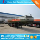 Acetic acid 3 axle 32 ton chemical tank trailer, 32cbm aluminum alloy chemical tank semitrailer