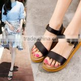 Z81161B Fashion women PU Sandal ladies Leather Sandals lady Flat Woman Sandal                                                                         Quality Choice