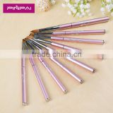 Professional 9pcs nail cleaning brush set metal nail art polish brush pure color