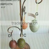 "2014 Hot Sale Artificial Polyster 2"" Egg Ornament For Christmas And Home Decoration"