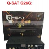 Stocks for QSAT Q26G mepg4 full hd gprs decoder with two accounts inside open paid channels for Africa Better than Q23G,Q11G,.