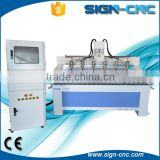 wood boring machine/ mould engraving CNC router with multi heads