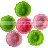 Beautiful flower shaped silicone cupcake mould supplies/silicone cake molds