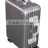 "2015 New Design 25"" steel grey Aluminium Trolley Suitcase, Travelling Luggage Suitcase"