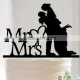Personalized Funny Mr and Mrs Bride and Groom Anniversary Wedding Cake Topper