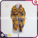 wholesale 19 colors winter tartan scarf women fashion blanket plaid scarf pakistan shawls