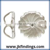 .925 Silver Jewelry Findings: Premium Earring Back (9.2x9.4mm) Swirl AT
