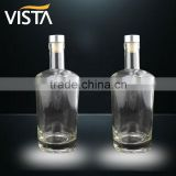 High clear glass bottle rum