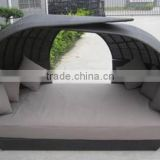 All Weather Outdoor Wicker Furniture Best Selling PE Rattan Beach Bed Lounge Furniture                                                                         Quality Choice