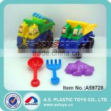 funny cute outdoor kids play 4 pieces beach blocks truck toy