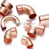 Coupling & Reducer & Elbow & Tee & Reducing Tee & P Trap Type and Round Head Code Air Conditioner Copper Pipe Fittings