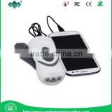 Portable Hand Crank Dynamo Mini Flashlight Radio, with Mobile Phone Charger