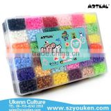 MID S-5MM 11100pcs fuse perler beads/box, 36 colors with ironing paper jewelry beading kits for children