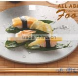 2016 Latest Buffet Sushi Restaurant Melamine round wooden marble Plate & Serving Tray