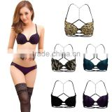 Sexy Womens Y-Line Straps Girl Front Closure Bra Push Up Seamless Underwear