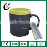 11oz ceramic chalk mug with matt black coated