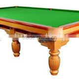 British style 12ft solid wood snooker pool table 4.5 cm slate billiard snooker table price