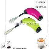 handheld electric milk frother battery operate milk shake mixer machine milk powder mixer