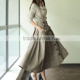 Latest formal skirt blouse patterns for ladies with fitted waistband latest long skirt design Lined pleated chiffon maxi skirt