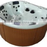 Promotional Family free sex massager USA acrylic bathtub round outdoor spa with spa covers and pop up tv